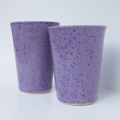 Lavender Spring Tumbler | Elizabeth Eisenstein - ZZIEE Ceramics | Elizabeth Eisenstein - ZZIEE Ceramics | Joshua Tree, CA at Sustain - Gallery and Shop - Chicago, IL