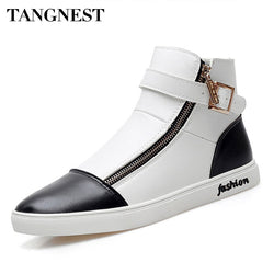 Tangnest Men's Ankle Leather Casual Shoes