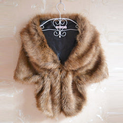 145*30cm Faux Fur Long  Stole Wrap