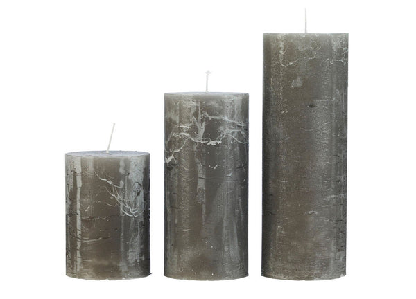 Rustic Candle Grey - Nomad The Store - Nomad The Store
