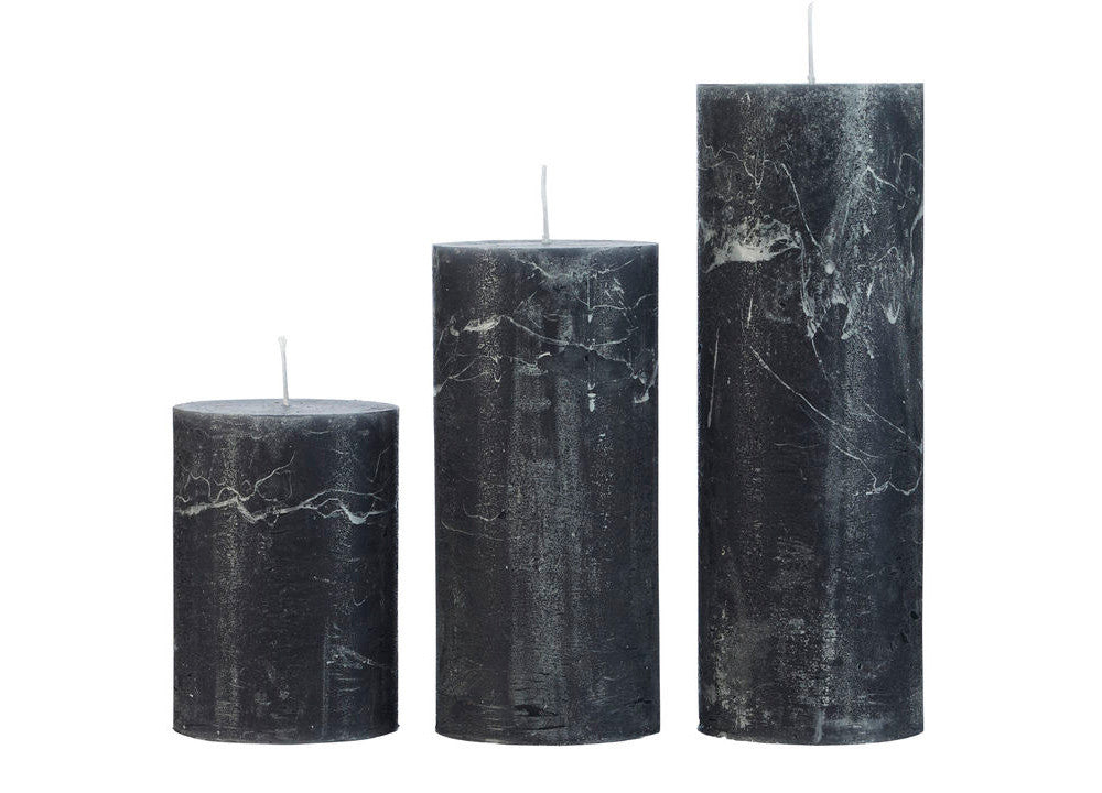 Rustic Candle Antracite - Nomad The Store - Nomad The Store