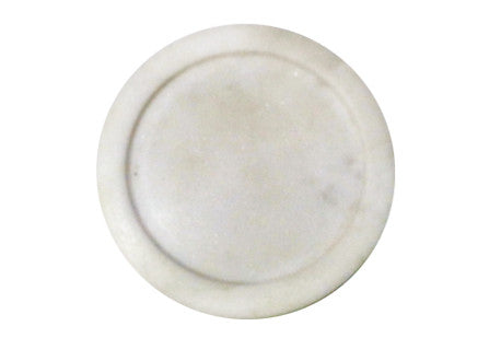 Marble Candle Holder White - Nomad The Store - Nomad The Store