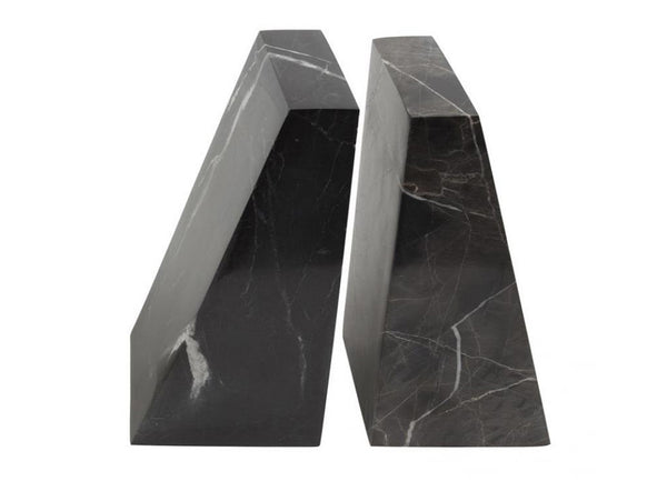 Black Marble Book Ends - Stoned Marble - Nomad The Store