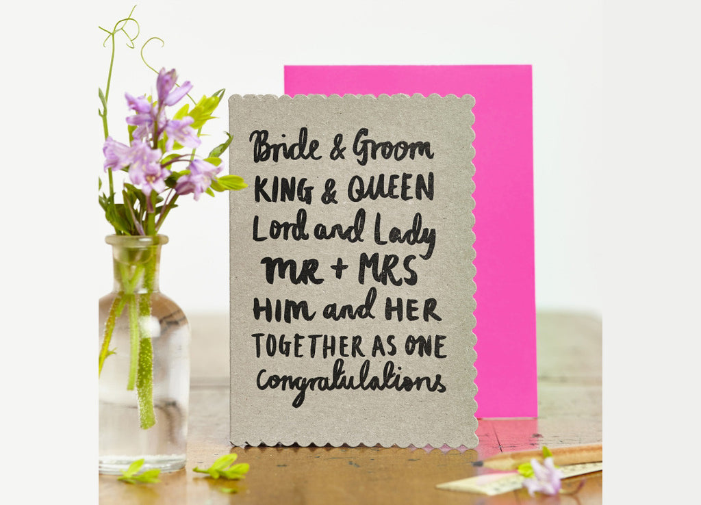 Bride & Groom Card - Nomad The Store - Nomad The Store