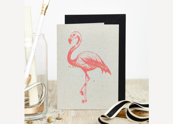 Flamingo Happy Birthday Card - Nomad The Store - Nomad The Store