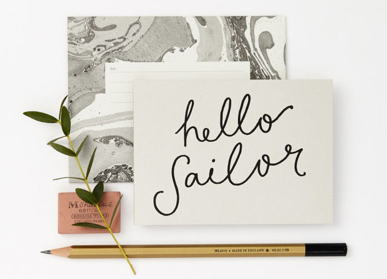 Hello Sailor Card - Nomad The Store - Nomad The Store