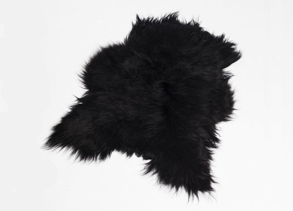 Icelandic Sheepskin Longhair Black - The Organic Sheep - Nomad The Store