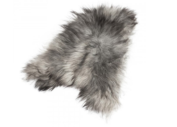 Icelandic Sheepskin Longhair Natural Grey - The Organic Sheep - Nomad The Store