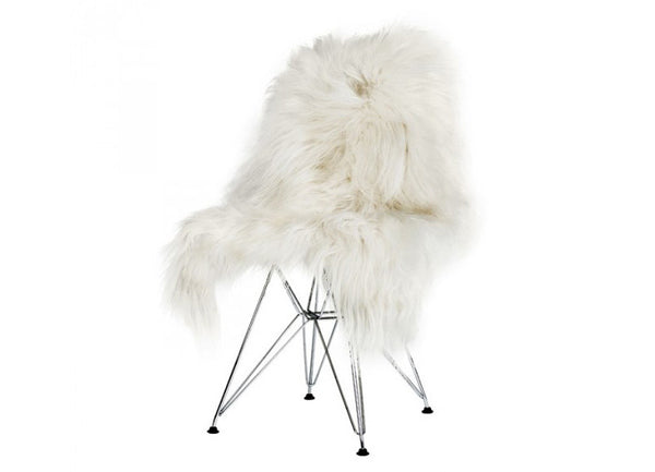 Icelandic Sheepskin Longhair White - The Organic Sheep - Nomad The Store