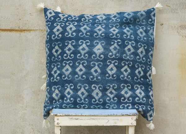 Aba Batik Indigo Scatter Cushion - Dassie - Nomad The Store