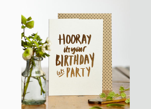 Let's Party Card - Nomad The Store - Nomad The Store