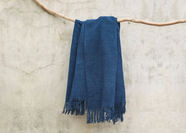 Lu'lu Indigo Throw - Nomad The Store - Nomad The Store