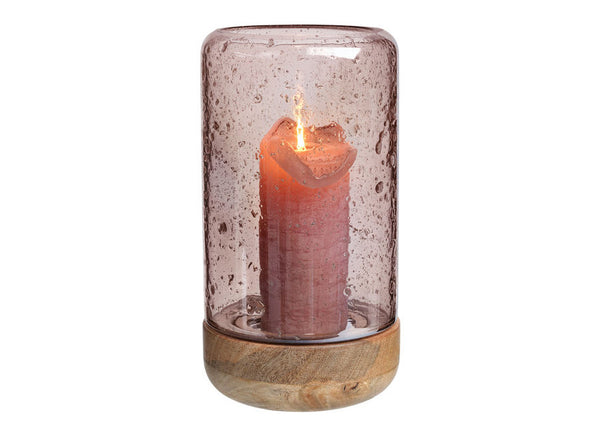 Luster Hurricane Lantern Rose Tall - Nomad The Store - Nomad The Store
