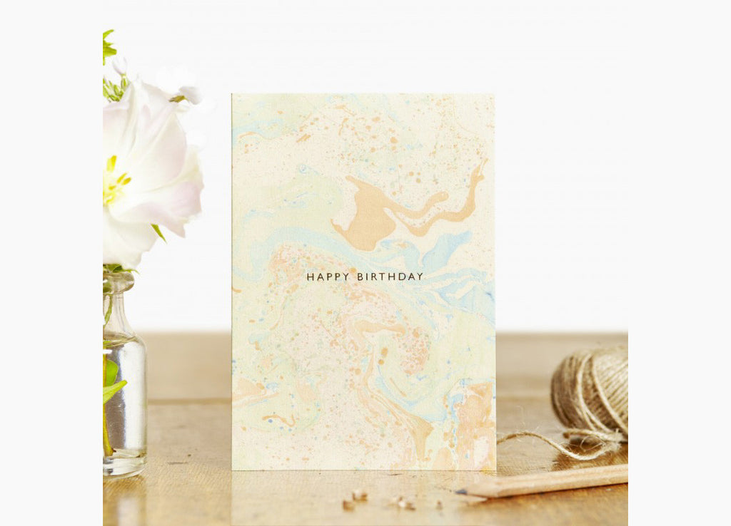 Marbled Birthday Card Sunrise - Nomad The Store - Nomad The Store