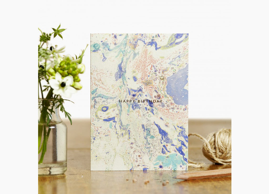 Marbled Birthday Card Sunset - Nomad The Store - Nomad The Store