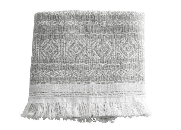 Ethnic Grey Cotton Throw - Tine K home - Nomad The Store