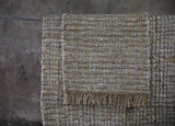 Nika Leather & Hemp Rug Large - Nkuku - Nomad The Store