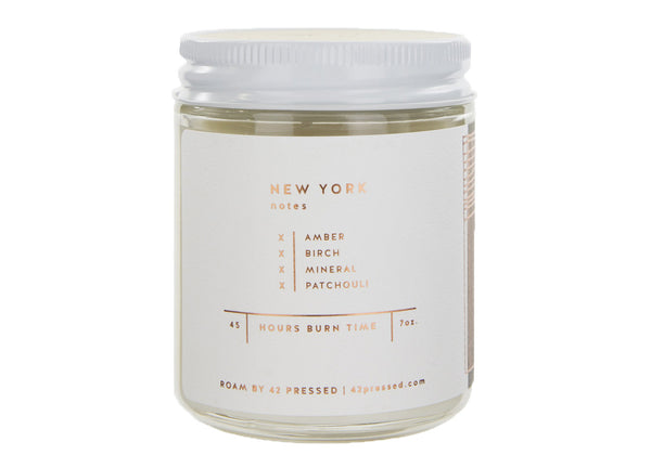 ROAM by 42 Pressed New York Candle - ROAM by 42 Pressed - Nomad The Store