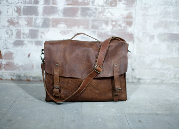 Sagara Satchel Dark Tanned - Nkuku - Nomad The Store