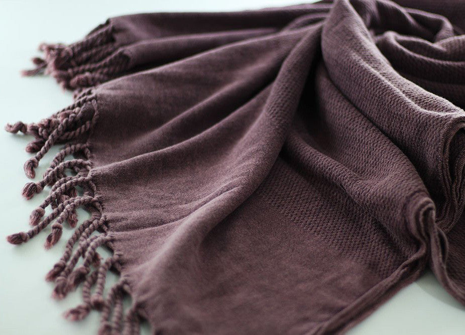 Stonewashed Turkish Towel Damson - Nomad The Store - Nomad The Store