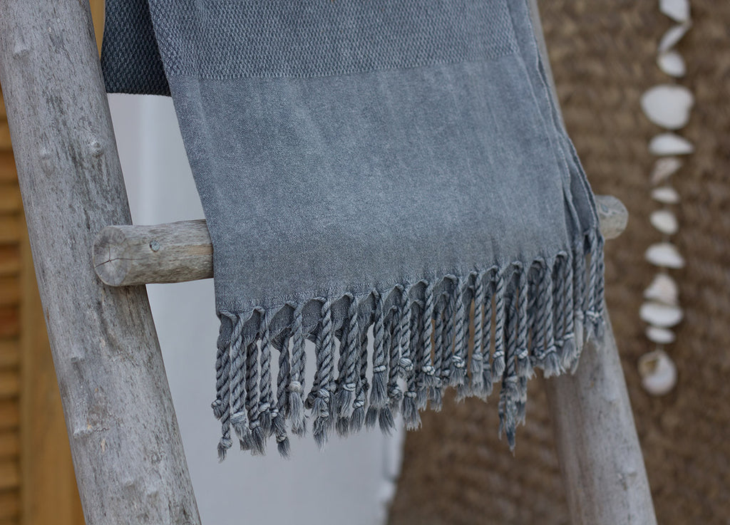 Stonewashed Turkish Towels Grey