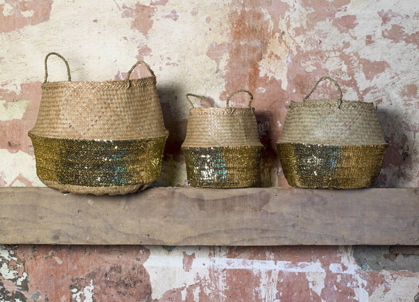Toulouse Sequin Basket - Nomad The Store - Nomad The Store