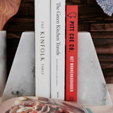 White Marble Book Ends - Stoned Marble - Nomad The Store