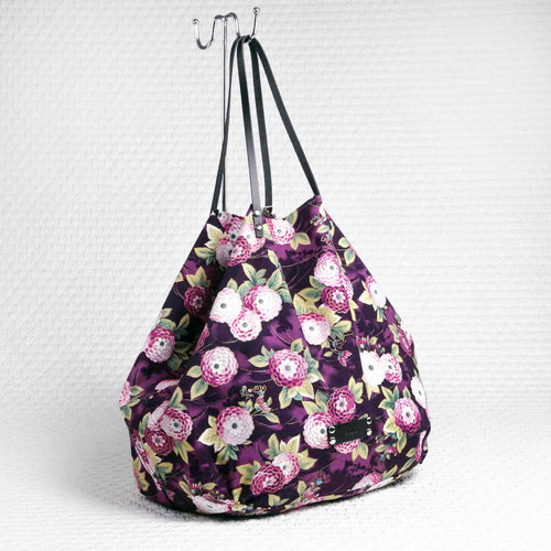 Purple Philini Shopper handmade from cottom
