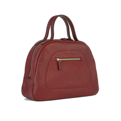 Red Philini Bag Domi. Handmade from Buffalo leather in limited editions.