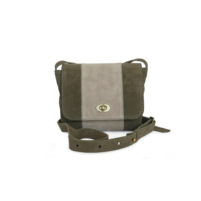 Crossbody bag in new trend color khaki by Philini