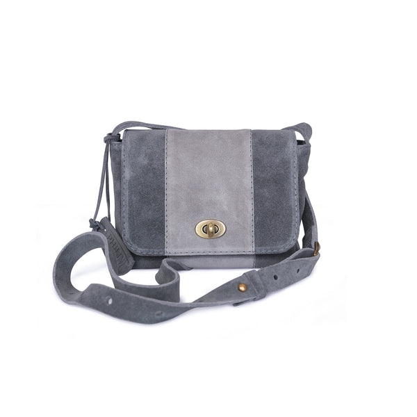 Noble and nice in touch sude leather bag Marina from Philini Collections.