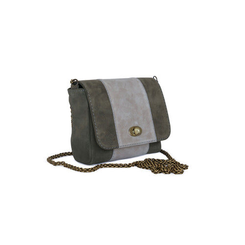 Small Bag Marina in khaki suede leather by Philini