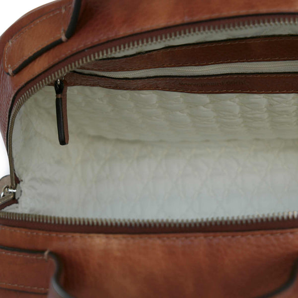Beautiful inside and outside. Philini Leather Bag Domi. Handmade in limited editions.