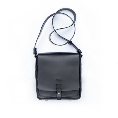 Black medium size Postman bag from Philini