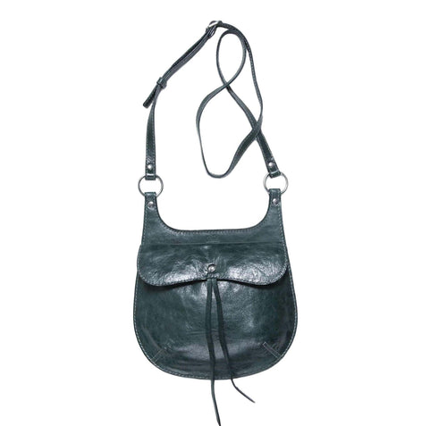 Philini Bag Cowboy dark green made natural leather.