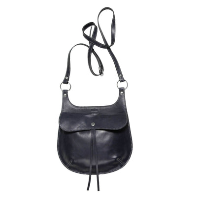 Philini Bag Cowboy handmade from natural leather/Dark blue colour/Crossbody bag