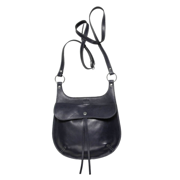 Philini Bag Cowboy handmade from natural leather. Dark blue.