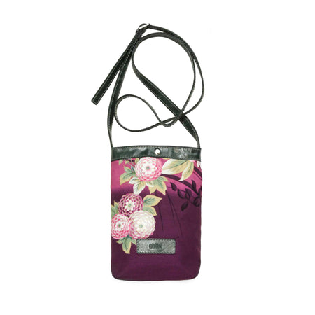 """FLORA BLACK"" Middle Crossbody Bag"