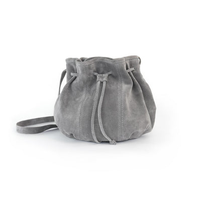 Gray Pamina Bag from suede leather in Philini Shop