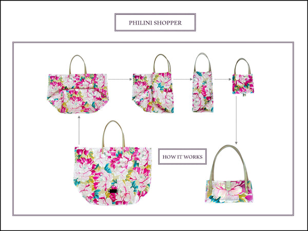 The folding instruction of Philini shopper