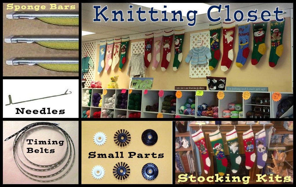 Knitting Machine Parts | Christmas Stocking Kits - Knitting Closet