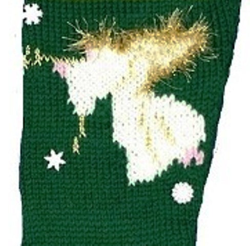 Angel Christmas Stocking Knitting Kit - Green