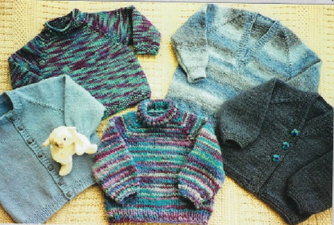 Ann Norling Pattern 53 - Kids Top Down Raglan Sweater Patterns