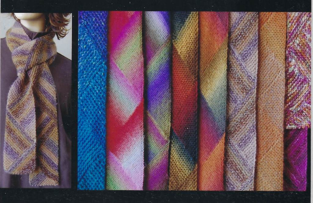Ann Norling Short Row Multi-Directional Scarf Pattern #69