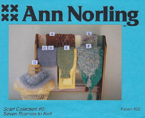 Ann Norling Scarf Collection #6 - 7 Scarves To Knit - Pattern #52