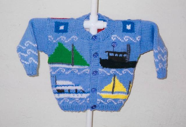 Ann Norling Kid's Boat Sweater Pattern #45
