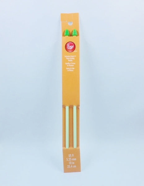 Boye Single Point Plastic Knitting Needles