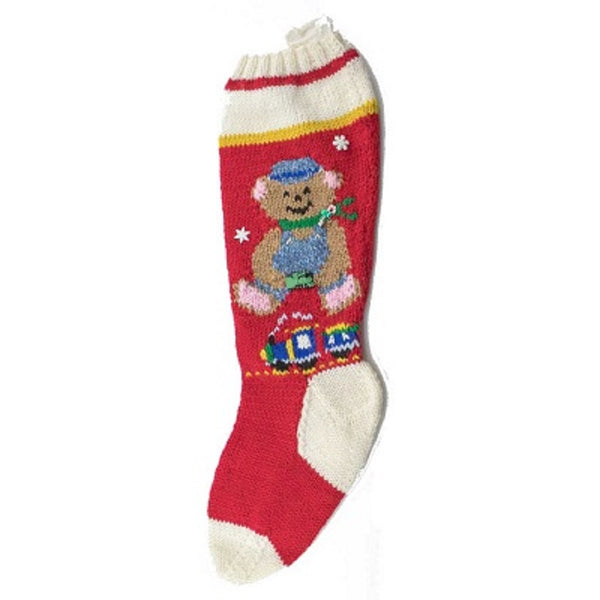 Choo-Choo Charlie Hand Knit Christmas Stocking Finished - #7045