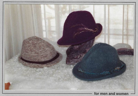 Swiss Chalet Felted Hat Pattern H201 by Johanna Designs