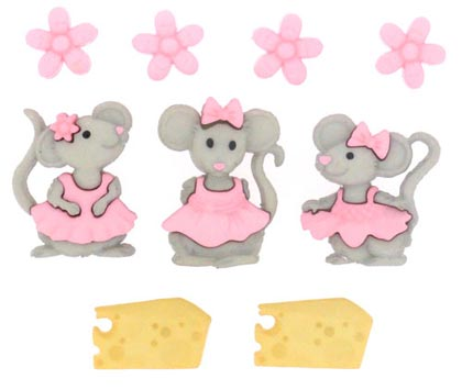 Mice Girls Buttons by Jesse James